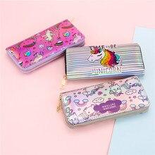 Wallet Women Handbag Holographic Leather Laser Organizer Wallets Ladies Long Wristlet purses Female Coin Girl Purse Card Pocket