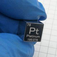 MIRROR POLISHED Platinum Metal 10mm Density Cube 99.95% Pure for Element Collection