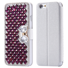Luxury Glitter Diamond Rhinestone Stand Wallet Case For iPhone