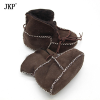 JKP Winter New Baby Shoes Boots Infants Warm Shoes Fur Wool Girls Baby Booties Sheepskin Genuine