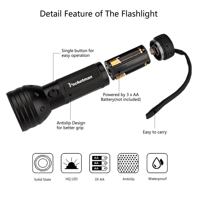 Image 4 - UV Flashlight Black Light, 9 12 21 51 LED 395 nM Ultraviolet Torch Blacklight Detector for Dog Urine, Pet Stains and Bed Bug z50-in LED Flashlights from Lights & Lighting