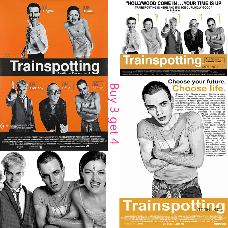 Large Quality FREE P+P CHOOSE YOUR SIZE! Trainspotting Poster Classic Movie