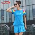 Verano Coreano patchwork más tamaño ropa para niñas establece ropa de la formación y el ejercicio de entrenamiento de tenis falda traje de entrenamiento desgaste 6367
