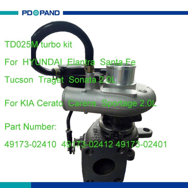 Pièces de turbocompresseur automatique TD025M-09T pour moteur diesel HYUNDAI KIA D4EA 1991cc 4917302410 4917302412 4917302401 2823127000