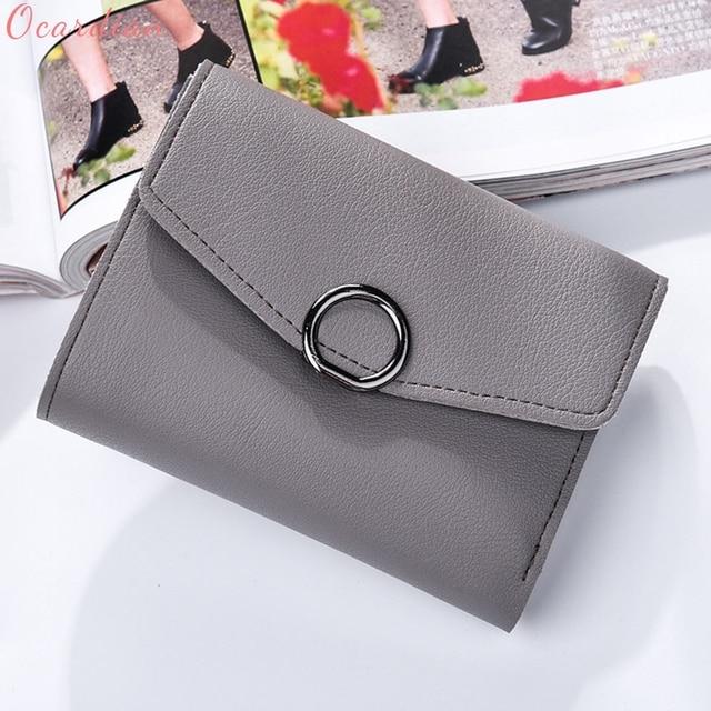 54e215fed3 Ocardian NEW bolsas NEW Fashion Women Leather Wallet Clutch Purse Lady  Short Handbag Bag Handbag With Tassel Drop Shipping # p