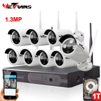 Kit DIY Security Wifi Camera System HD 1Mega Pixel Home Use P2P Surveillance Kit Wireless NVR