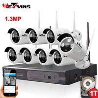 Thuis Bewakingscamera Cctv-systeem Draadloze DVR 8CH IP CCTV Kit HD 960 P P2P IR Nachtzicht Plug Play Video Surveillance Wifi Kit