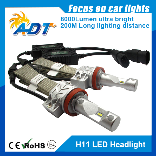 1set 50W 8000LM PH Chip LED Headlight 25W 4000LM H1 H3 H4 H7 H8 H9 H11