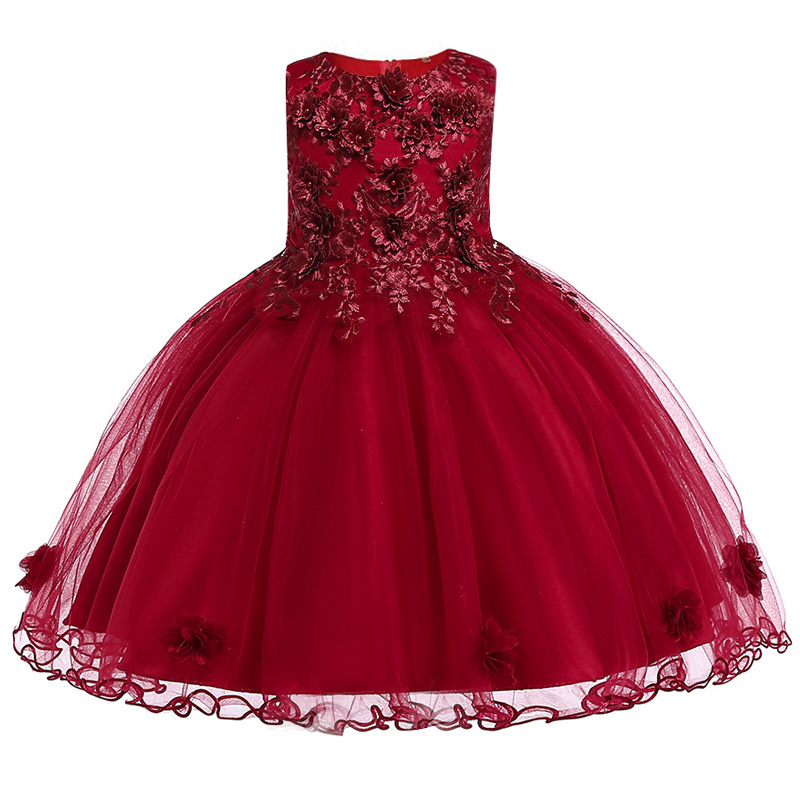 Summer Flower Girl Dresses For Little Girl School Wear Children Wedding Holiday Clothing Kids Party Dresses For Girl 8 10T 11