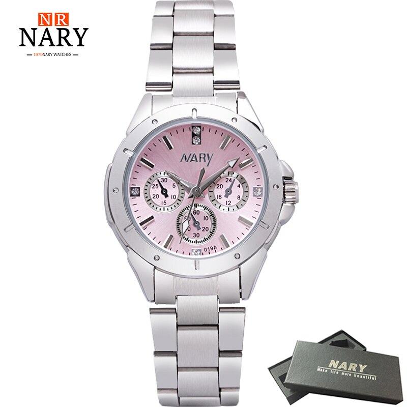 laikrodžiai moterims Prekės ženklo NARY prabangių laikrodžių mados modeliai, skirti visų nerūdijančio plieno aukštos kokybės deimantų moteriškiems laikrodžiams
