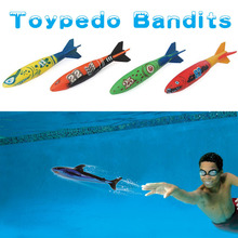 4 Pieces Swimming Toypedo Bandits Diving Toys Games Sport Outdoor Play Pools Water Fun Pool Toys