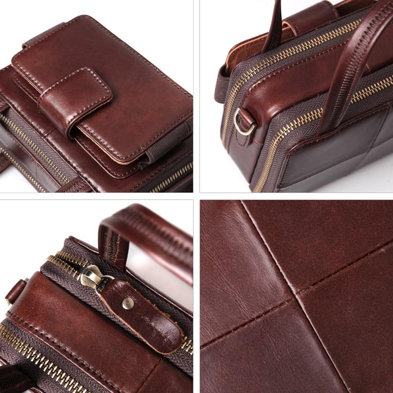 Cobbler Legend Double Zipper Women Genuine Leather Handbag Women's Bags