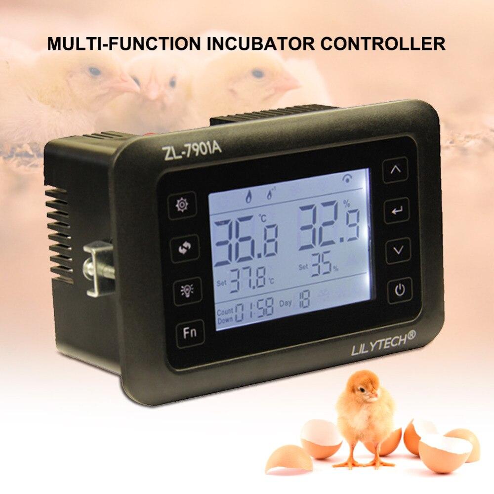Yieryi ZL 7901A Incubatore Digitale di Temperatura e Umidità di Controllo Uovo Incubatore PID di Controllo della Temperatura 100 240 V (V)-in Gabbie e accessori da Casa e giardino su  Gruppo 1