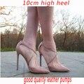 Large Size 41 Womem's Shoes Woman High Heels Women Pumps 10 cm Thin Heel Women's Nude Pointed Toe Footwear Gladiator Sanda