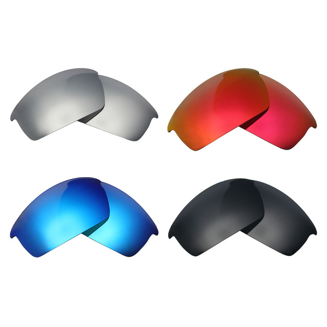 50e6f61d589 4 Pairs Mryok POLARIZED Replacement Lenses for Oakley Bottlecap Sunglasses  Stealth Black   Ice Blue   Fire Red   Silver Titanium