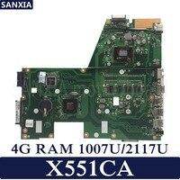 KEFU X551CA Laptop motherboard for ASUS X551CA X551CAP X551C X551 F551C F551CA Test original mainboard 1007U/2117U 4G RAM