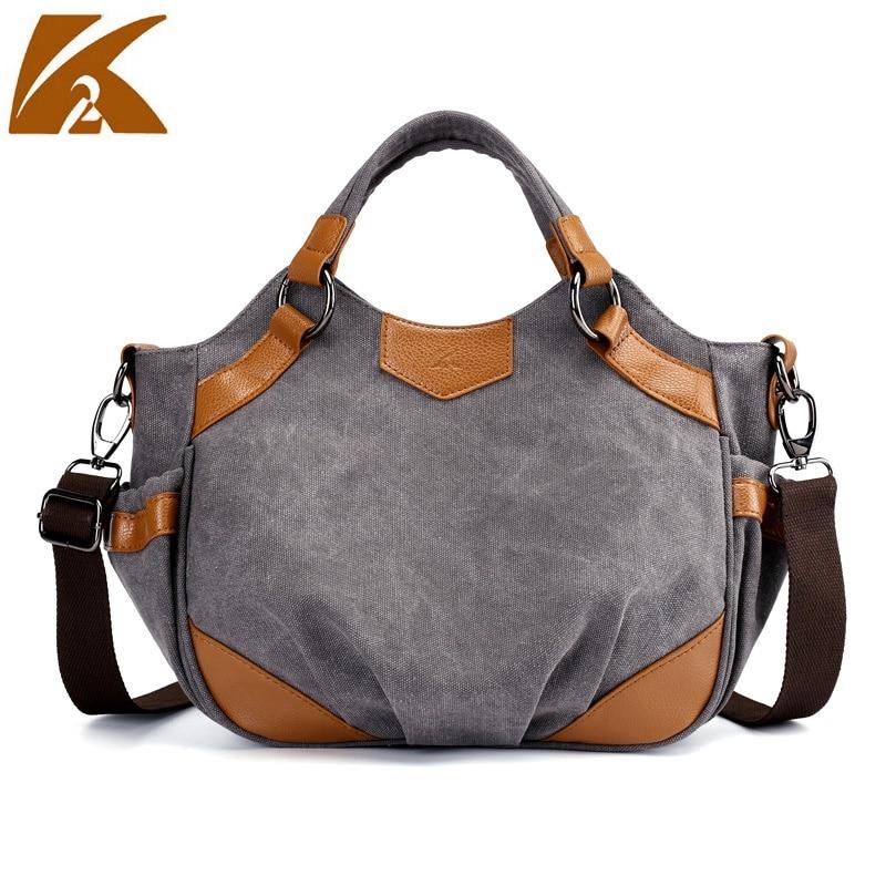 b9f20ab986f4 Бренд KVKY Винтаж Сумка для женщин колледж студент сумки на плечо  повседневное леди холст