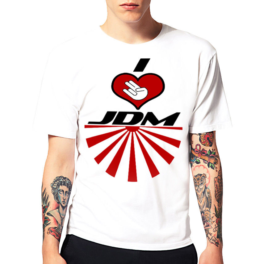 2018 New Summer Cool T-Shirt I Love JDM Tuning Drifting T Shirt Cotton Tee shirt