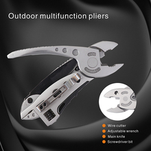 Outdoor camping Pocket multitool pliers multitools knife mini tool plier set Screwdriver Hiking Tools Adjustable Wrench Spanner mini folding pliers pocket edc camping tool with screwdriver kit camping climbing hiking plier cutting tool hand tools
