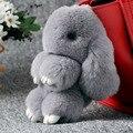 Горячая! 11 цветов Кролика Рекс Мех Кролика Сумка Сумка Брелок Pom Кукла Брелок Кольцо Кулон