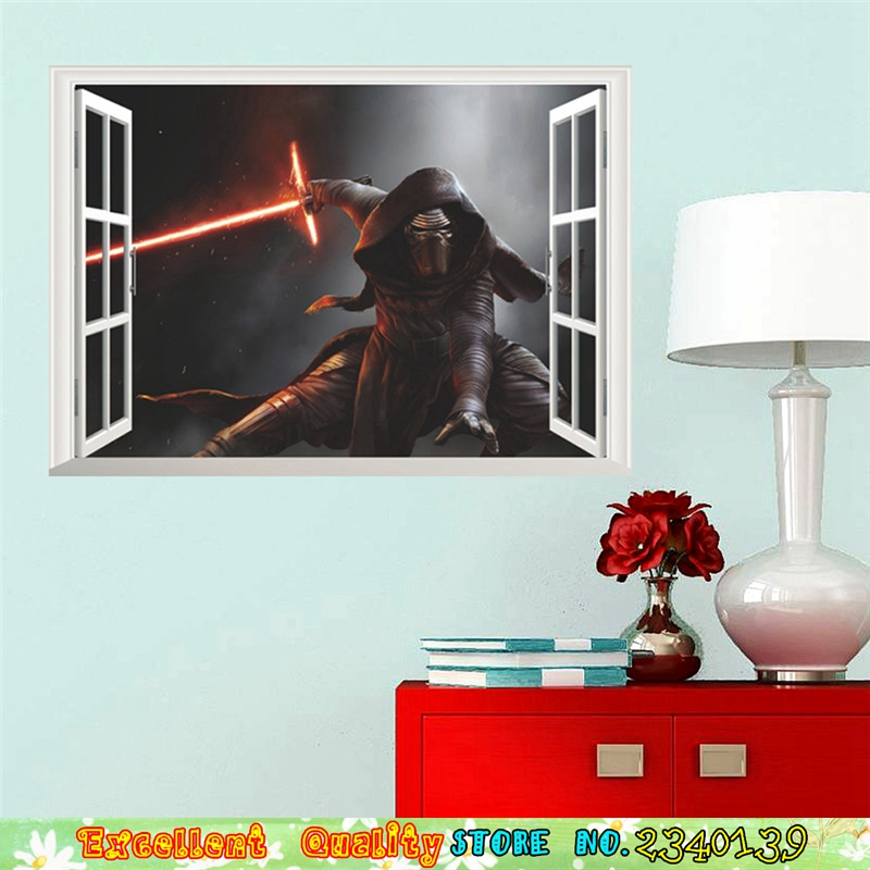 cool d ventana estrella guerra movie poster pared pegatinas despierta sith lord darth vader hogar nios