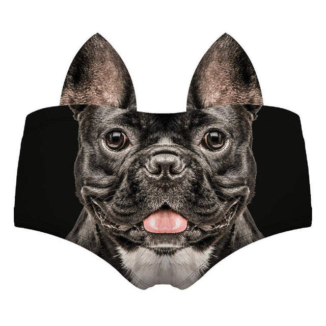 Women's Funny Dogs 3D Printed Ears Decorated Panties