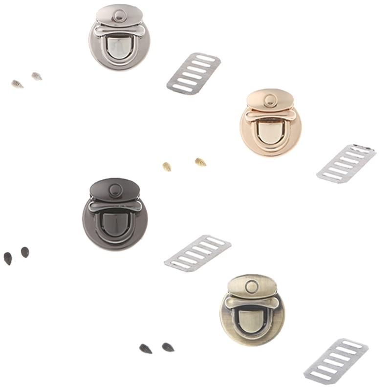 Bag Accessories Lock Metal Clasp Turn Lock Round Shape Twist Lock for DIY Handbag Bag Purse Hardware 2018 New Hot twist lock saddle bag