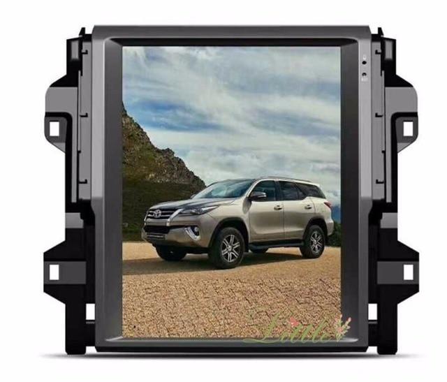 Najnowszy duży ekran dotykowy styl tesla 12.1 cal nawigacja samochodowa gps dla Fortuner Toyota 2016 + radio odtwarzacz stereo urządzenia nawigacji satelitarnej