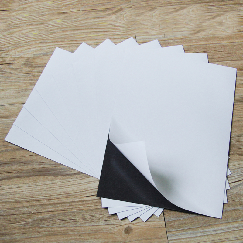 3pcs A4 Size 1mm Self Adhesive Flexible Magnetic Sheet For Spellbinder Dies Car/Exhibition/Ad Rubber Magnet Board