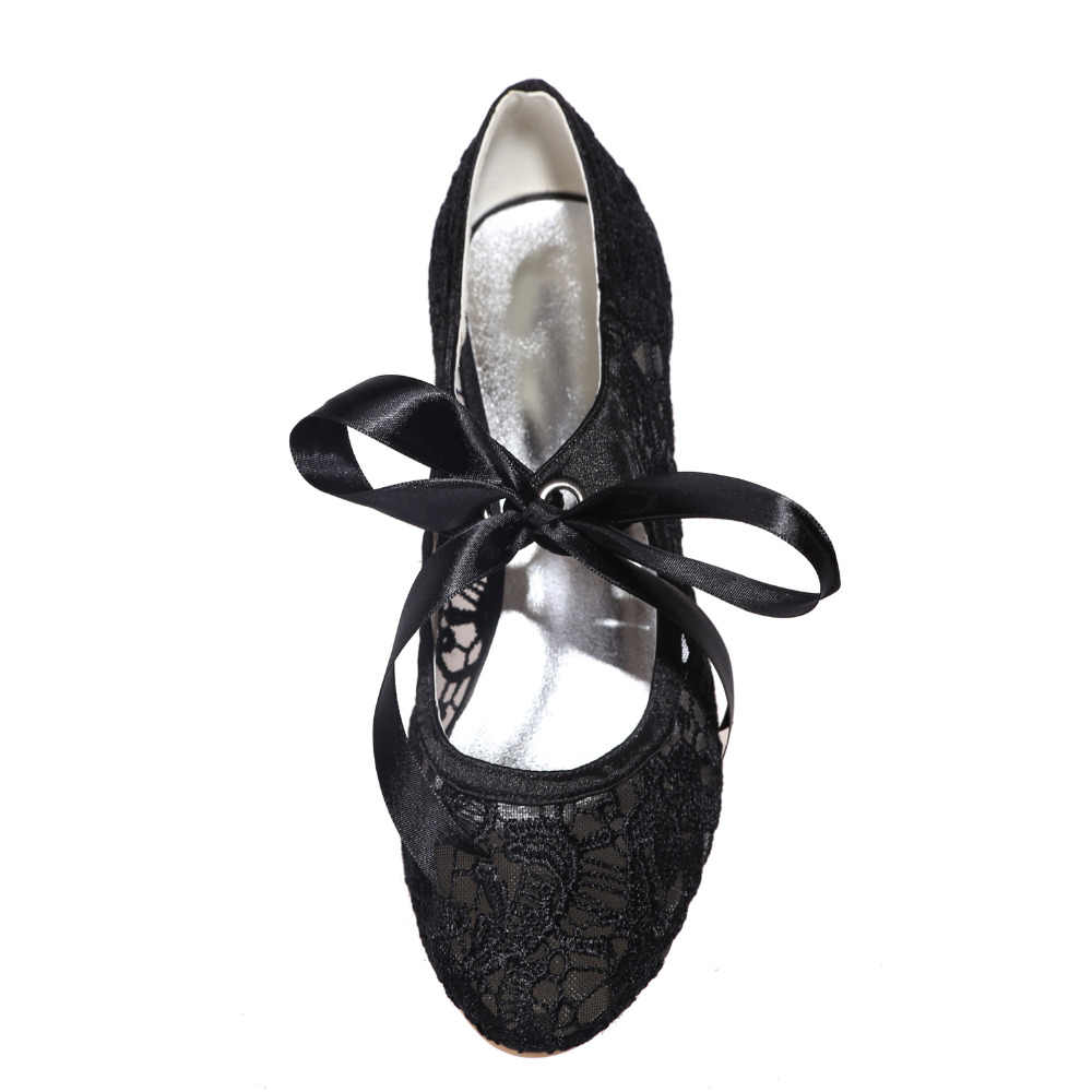 84f778d003 Creativesugar see through lace mary jane vintage style kitten heel bridal  wedding party prom black white ivory pink shoes heels