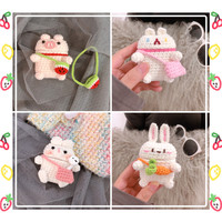 Cute Handmade Knitting Soft Case for Apple Airpods Bluetooth Earphone Accessories Headphone Charging Box Headset Cover