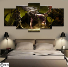 5 Piece Warcraft Illidan Game Canvas Printed Painting For Living Room Wall Art Decor Picture Artworks Modern Poster