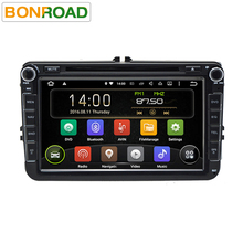 7.1.1 Bonroad Android Quad Core 1024*600 Ram 2G + Rom 16 GB 2Din Navegación del coche DVD GPS Navigator Radio Player Para VW Skoda