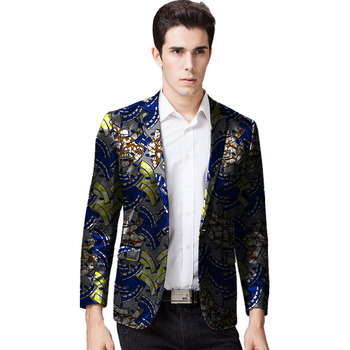 Fashion Man African Men Clothing Print Men Suits Jacket Blazers African Festive Suit Africa Style Jacket Blazers Customized