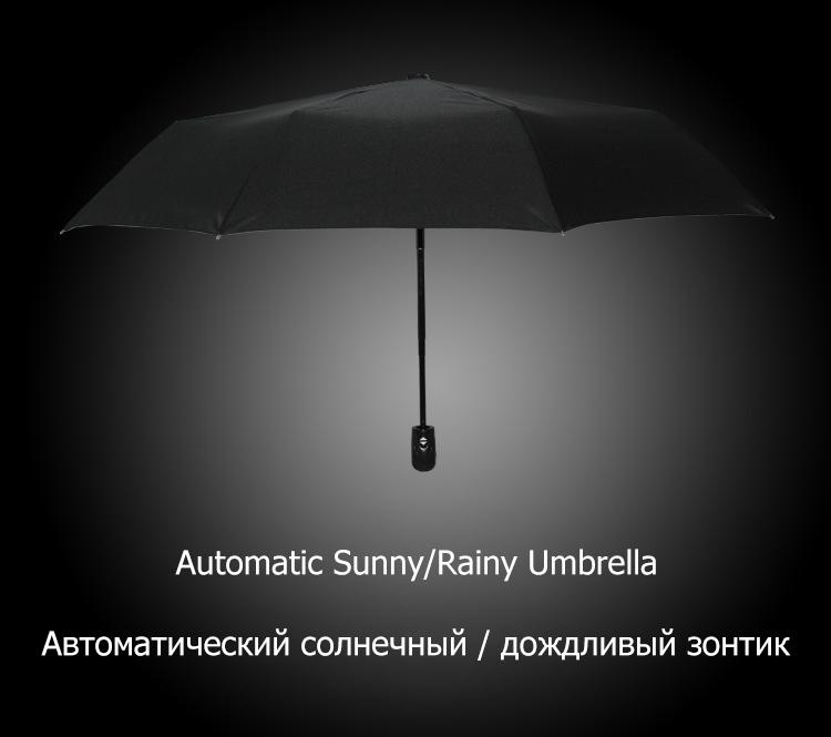 Wind Resistant Folding Automatic Umbrella Rain Women Male Auto