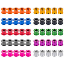 CHOOSE Al 7075 CNC Bike Crankset Bolts Nuts 6.5 MM Chainwheel Bolts For SHIMANO and SRAM Bike Parts 10 Colors