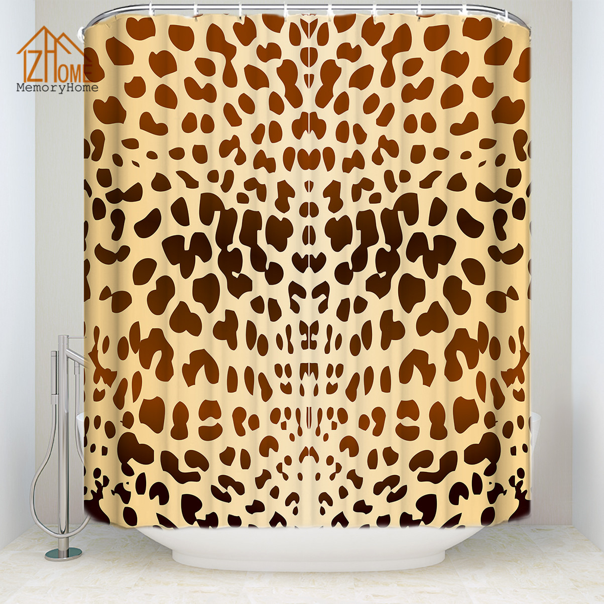 Memory Home Fashion Fabric Polyester Waterproof Shower ...