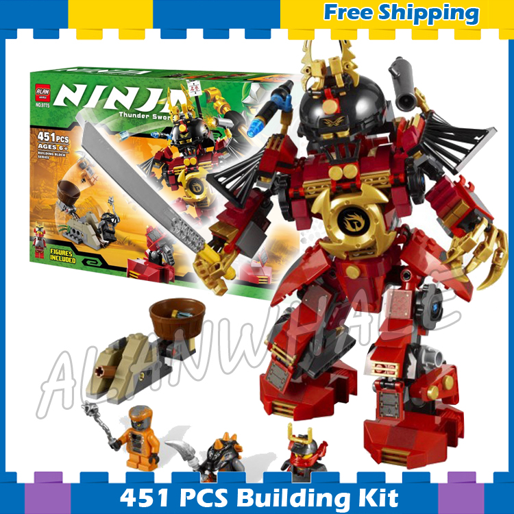 451pcs New Ninja Samurai Mech Snike Bytar Catapult 9775 Model Building Blocks Toys Bricks Toys Original Box Compatible With Lego dhl new lepin 06039 1351pcs ninja samurai x desert cave chaos nya lloyd pythor building bricks blocks toys compatible 70596