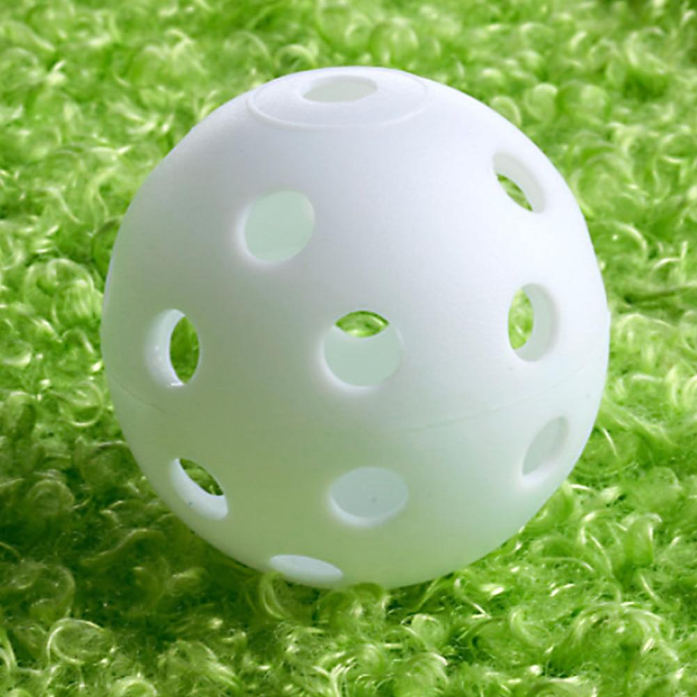 50pcs Golf Practice Training Sports Balls Plastic Golf balls Golf Accessories Outdoor Golf Tool 42mm Airflow Hollow Ball White