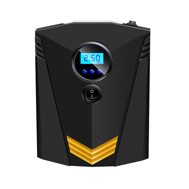 Digital Tire Inflator, DC12V 10A, Portable Air Compressor with LED Light, Quick Connect Tire Pump, Auto Shutoff, Fast Inflating, KPS/BAR/PSI/KGF