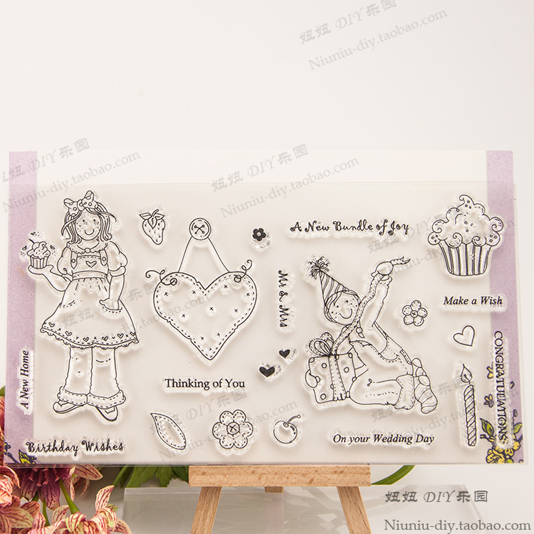 School Boy girl Christmas gift Clear stamp clear Scrapbook DIY photo cards account rubber stamp transparent cartoon seal scrapbook diy photo album card hand account rubber seal product seal transparent seal stamp cat
