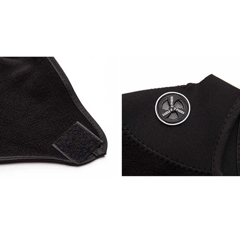 Теплая флисовая маска на пол-лица для игры в страйкбол и велоспорта, защита для лица, защитное снаряжение для велосипеда, лыжного спорта и зимнего активного отдыха, защита для шеи, теплая маска с шарфом