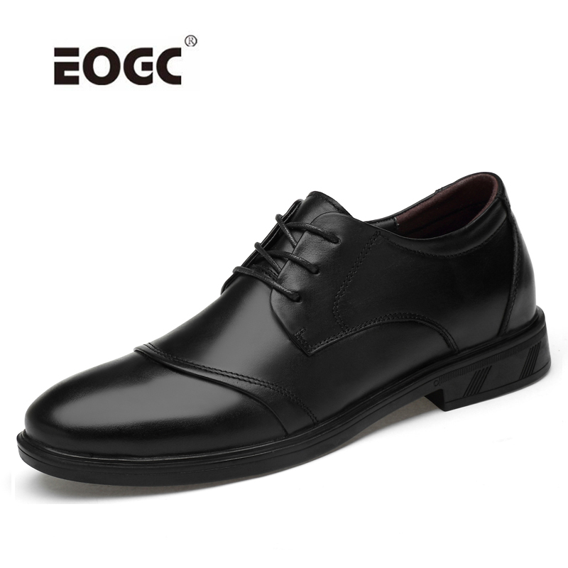 Natural Leather Shoes Men Classic Business Dress Formal Wedding Retro Oxford For