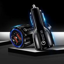 Мобильный телефон зарядное устройство автомобиль аксессуары быстрое зарядное устройство USB орнамент украшения для IPhone samsung Tablet 2 порт 3,0 быстрый
