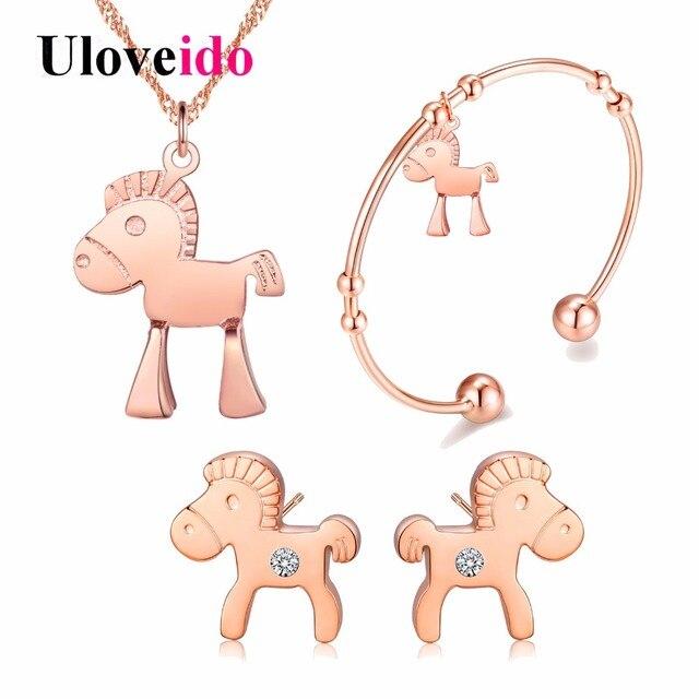 Aliexpresscom Buy Uloveido Animal Kids Jewelry Gift Rose Gold
