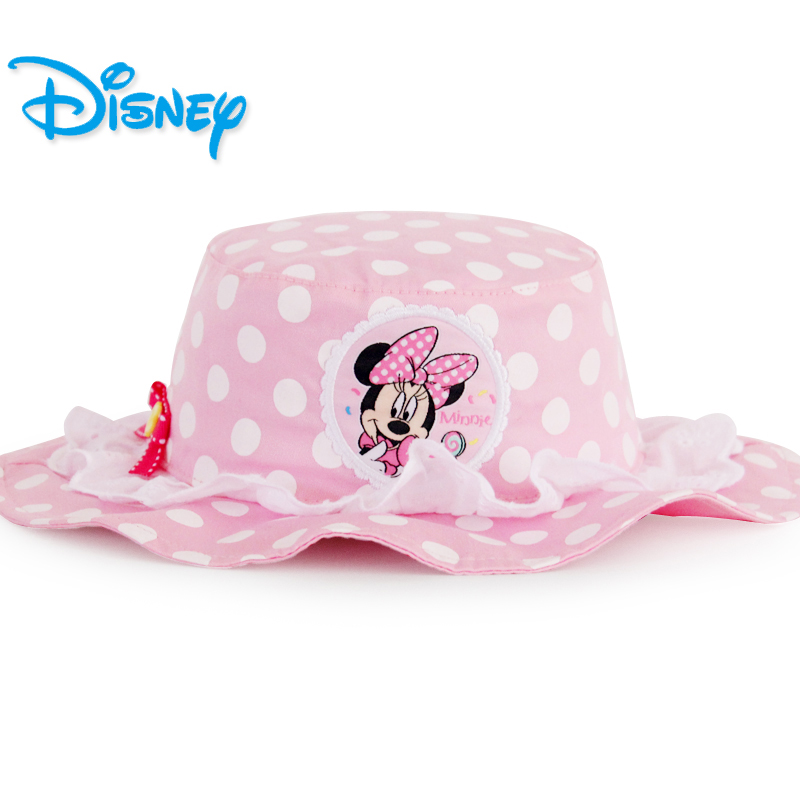 Disney Lovely Lace Princess Baby Girl Sun Hats Toddler Infant Kids Soft Cotton Summer Outdoor Breathable Beach Minnie Hats hats