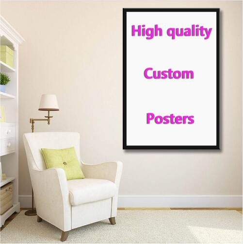 Custom your favorite photo family baby friendship love silk painting poster Decorative Wall painting in Painting Calligraphy from Home Garden