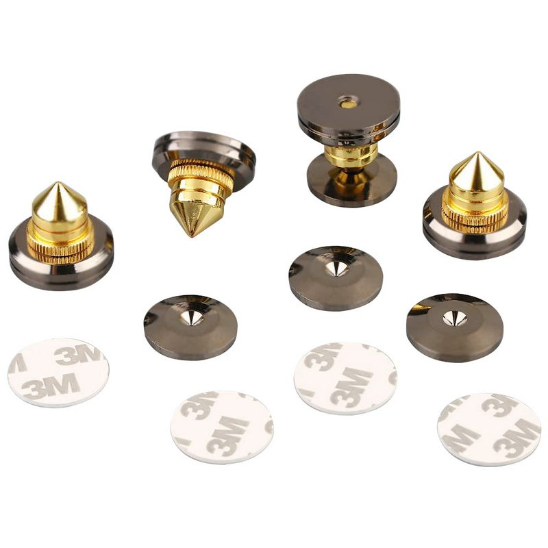 4sets New Metal Speaker Spike Isolation Cones Copper s