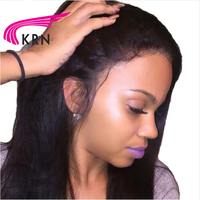 Brazilian Lace Front Human Hair Wigs Remy Hair Straight Wig With Baby Hair Natural Pre Plucked