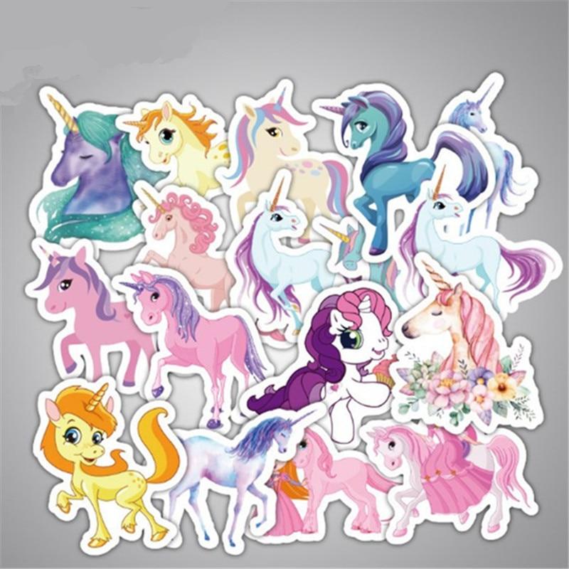 33 Stks/zak Leuke My Little Eenhoorn Stickers Voor Laptop Skateboad Fietsen Telefoon Auto Styling Decals Diy Paard Pony's Sticker Sterke Verpakking